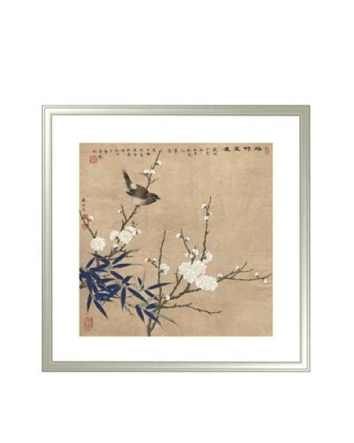 Mind Art Plum Blossom, Bamboo and Sparrow