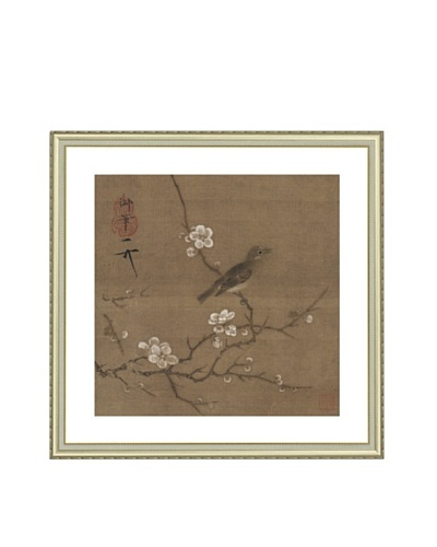 Mind Art Plum Blossom and White-eye Bird