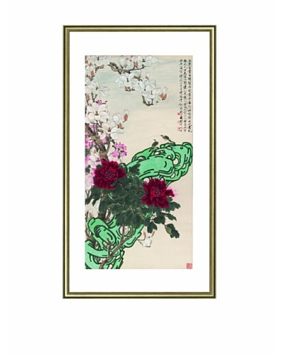Mind Art Peony, Magnolia and Chinese Cherry Apple Bring Prosperity and Fortune