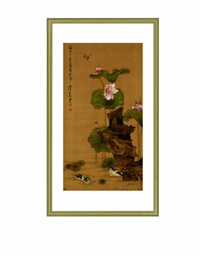 Mind Art Water Lily and Mandarin Ducks