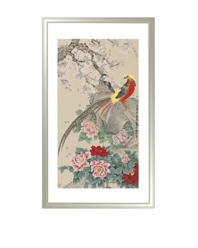 Mind Art Golden Pheasant with Pear Blossom