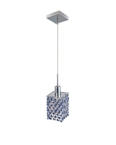 Mini Crystal Collection Square Pendant, Sapphire