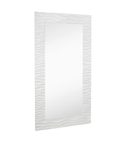 "Majestic Mirrors Waves Mirror, White, 82"" x 44"""