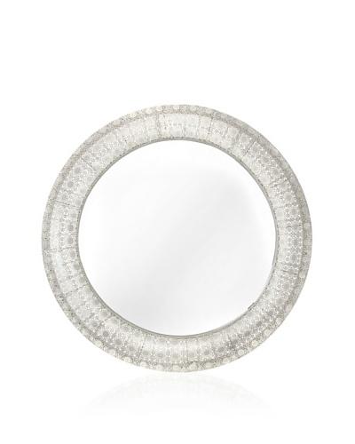 Round Mirror 27.5 x 3 Silver