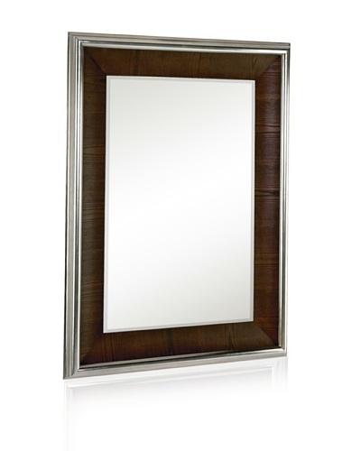 Majestic Mirrors Walnut Veneer with Nickel Mirror