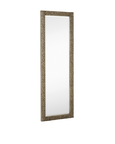 Majestic Mirrors Hatched Mirror, Silver, 72 x 24