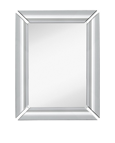 Majestic Mirrors Radiant Mirror, Silver, 40 x 30