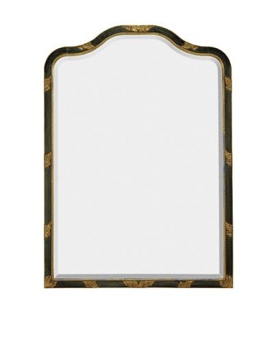 Majestic Mirrors Portrait Mirror, Antique Black/Gold, 42 x 30