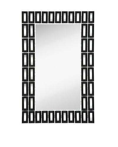 """Majestic Mirrors Block Mirror, Black, 48"""" x 31"""""""