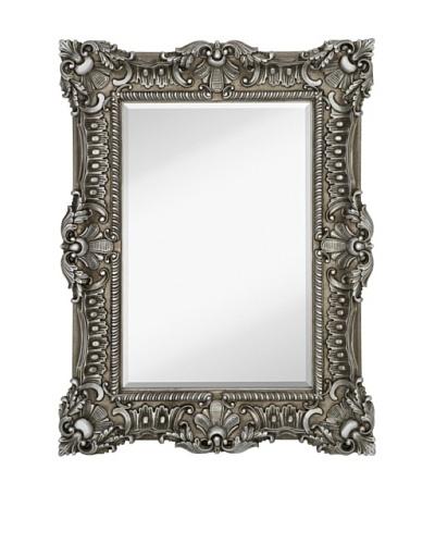 """Majestic Mirrors Bella Mirror, Silver, 51"""" x 39"""""""