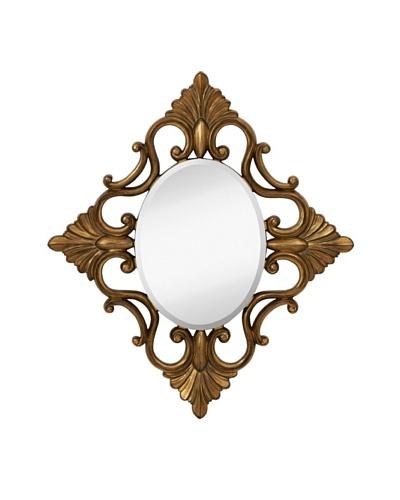 Majestic Mirrors Fontaine Mirror, Bronze, 42 x 36