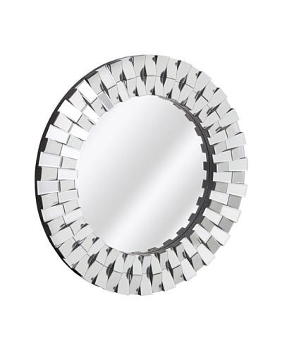 Majestic Mirrors Beveled Panels Mirror, Silver, 36 x 36