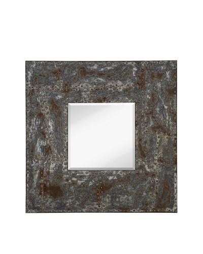 Majestic Mirrors Rivet Mirror, Steel, 36 x 36