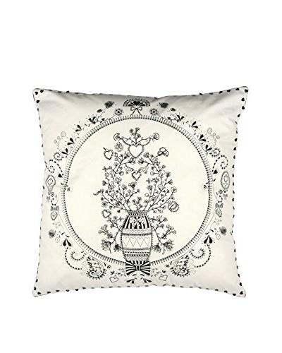 Miss Blackbirdy Flowerpot Pillow Cover