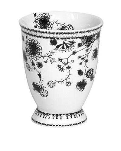 Miss Blackbirdy 9.5-Oz. Flower Milk Mug, White