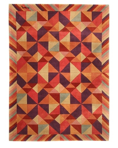 Missoni Carnival Hand Knotted & Hand Carved Rug, Multi, 5' 7 x 7' 10