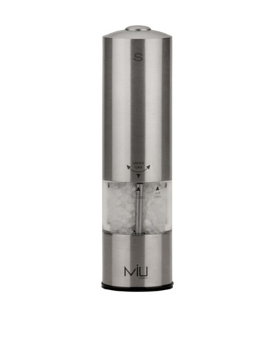 MIU France Battery-Operated Stainless Steel Salt Mill
