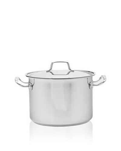 MIU France Covered Stock Pot with Tri-Ply Stainless Steel/Aluminum Base [Silver]