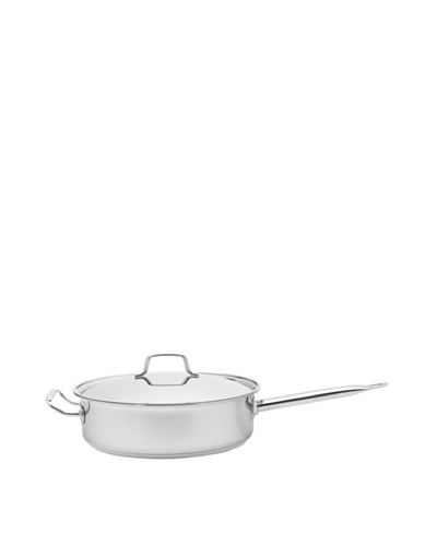 MIU France Tri-Ply Stainless Steel and Aluminum Sauté Pan with Lid