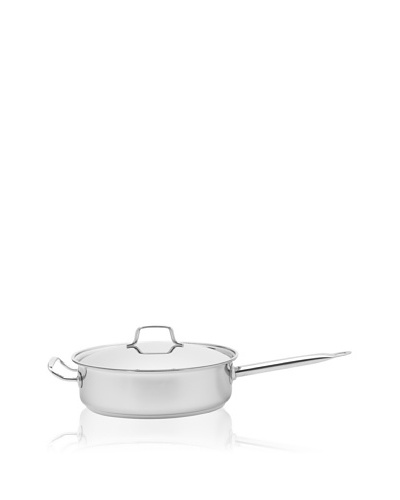 MIU France Tri-Ply Stainless Steel and Aluminum Sauté Pan with Lid [Silver]