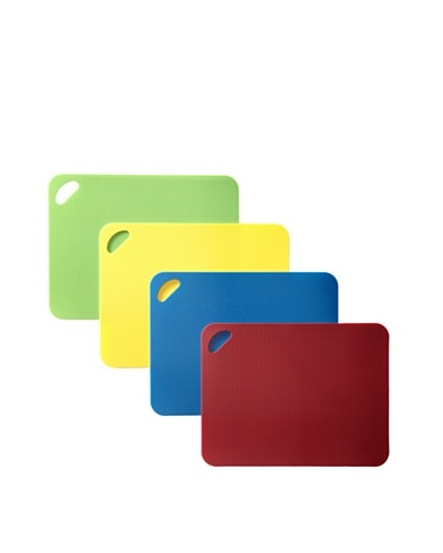 MIU France Set of 4 Thick Flexible Cutting Boards, Multi