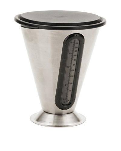 MIU France Stainless Steel 21-Oz. Measuring Beaker with Plastic Lid, Silver