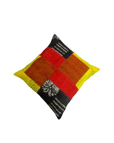 Modelli Creations Natural Fiber Square Dhurrie Pillow, Yellow