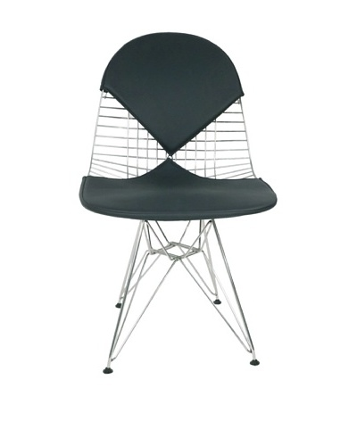 Control Brand Wire-and-Leather Chair, Black