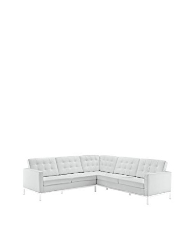 Modway Loft L-Shaped Leather Sectional Sofa