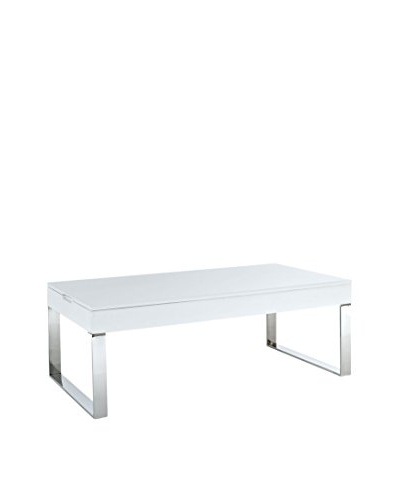 Modway Gloss Coffee Table, White