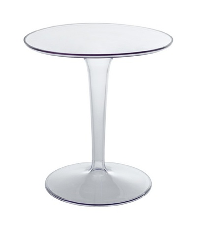 Modway Canvas Side Table, Clear