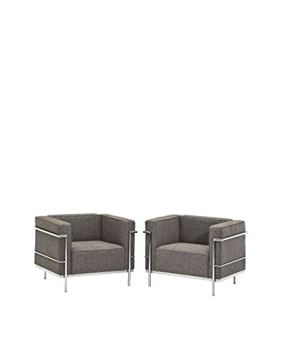 Modway Set of 2 Charles Grande Armchairs, Oat