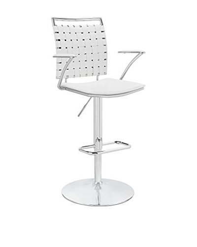 Modway Fuse Adjustable Bar Stool, White