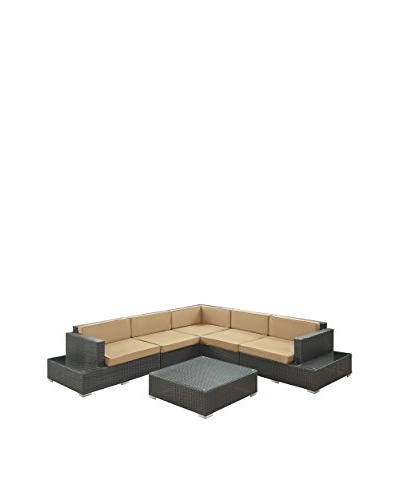 Modway Harbor 6-Piece Outdoor Patio Sectional Set