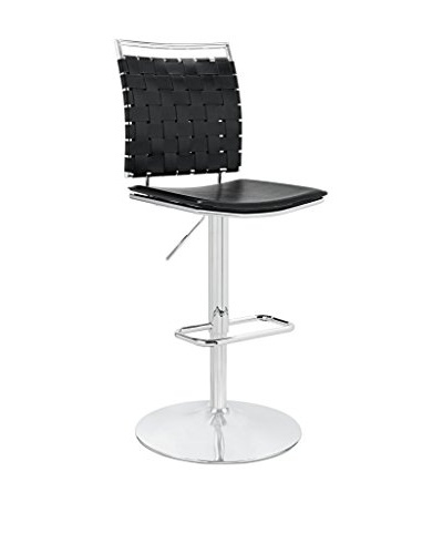Modway Fuse Adjustable Armless Bar Stool, Black
