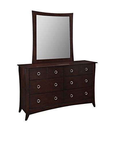 Modway Elizabeth Dresser & Mirror, Cappuccino