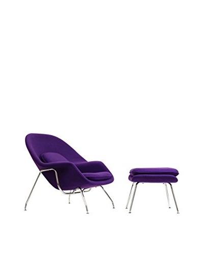 Modway W Lounge Chair, Purple