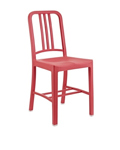 Modway Navy Dining Side Chair, Red