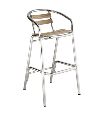 Modway Perch Bar Stool, Natural