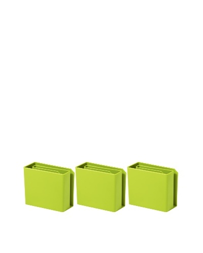 Molla Space Set of 3 Magnet Letter Holders, Green