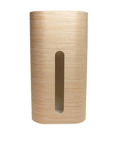 MollaSpace Wooden Tissue Box, White Oak