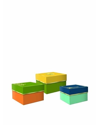 Molly & Rex Set of 3 Worldly Icons Storage BoxesAs You See