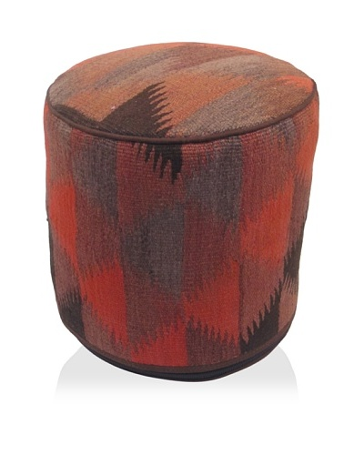 Momeni One-of-a-Kind Hand-Made Kilim Ottoman [Multi]