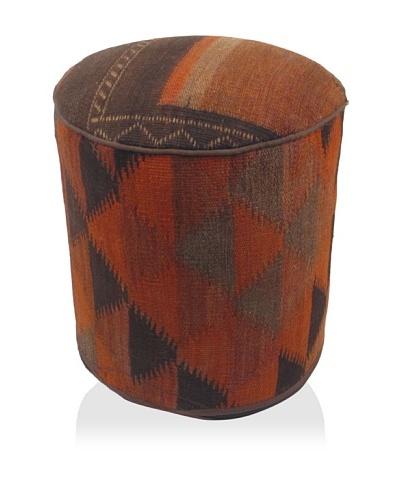 Momeni One-of-a-Kind Hand-Made Kilim Ottoman [Multi]