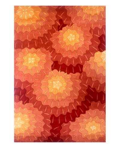 "Momeni Bold Floral Rug, Orange, 2' 6"" x 8' Runner"