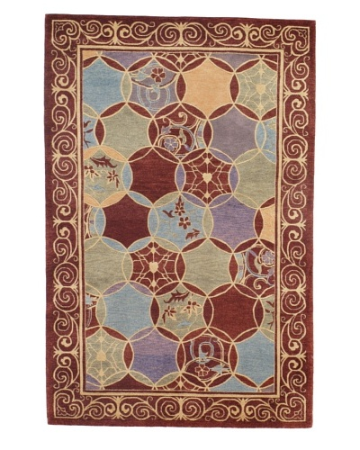 Momeni One-of-a-Kind Hand-Knotted Rug, Multi, 3′ 9″ x 5′ 9″