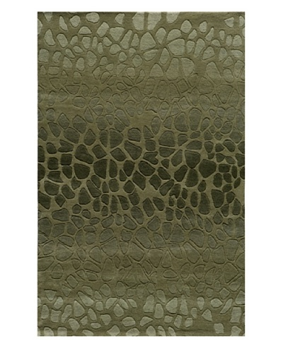 Momeni Delhi Collection Rug, Green, 5' x 8'