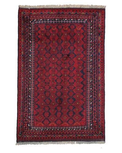 Momeni One of a Kind Pakistani Tribal Geometric Rug, 3' 3 x 4' 10
