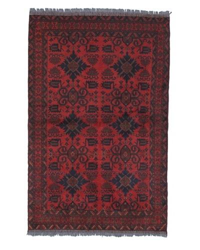 Momeni One of a Kind Pakistani Tribal Geometric Rug, 4' 1 x 6' 3