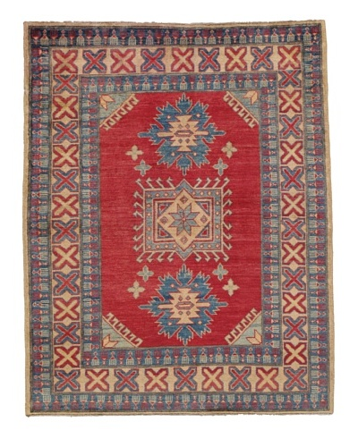 "Momeni One of a Kind Pakistani Kazak Rug, 4' 1"" x 5' 2"""